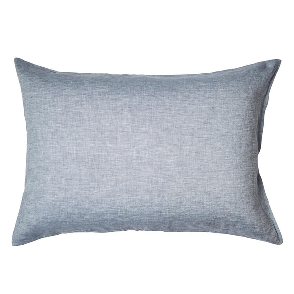 Linen Standard Pillowcase Set Chambray