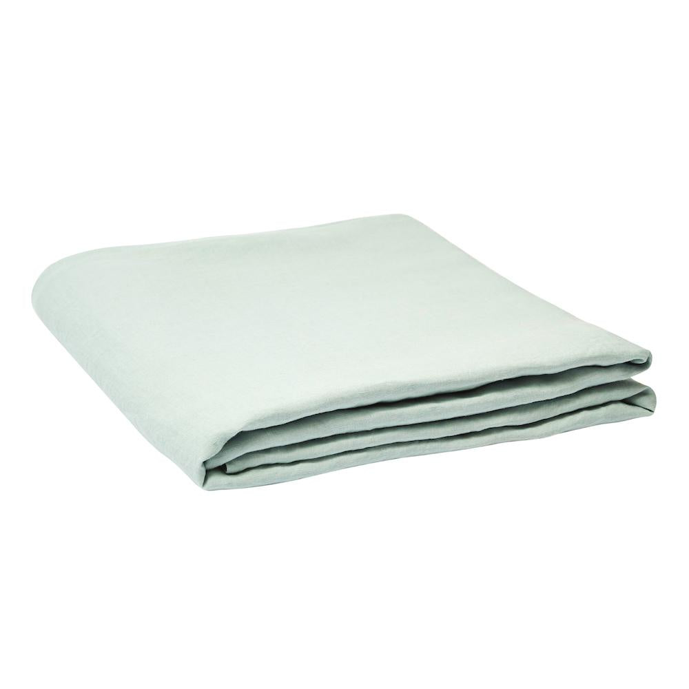 Linen Fitted Sheet Moonlight