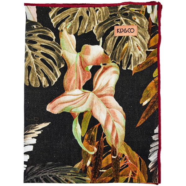 Night Jungle Linen Tea Towel