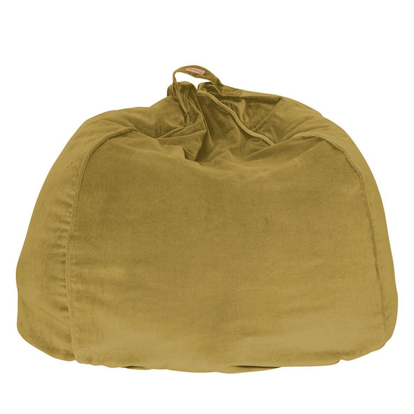 Burnished Gold Velvet Beanbag