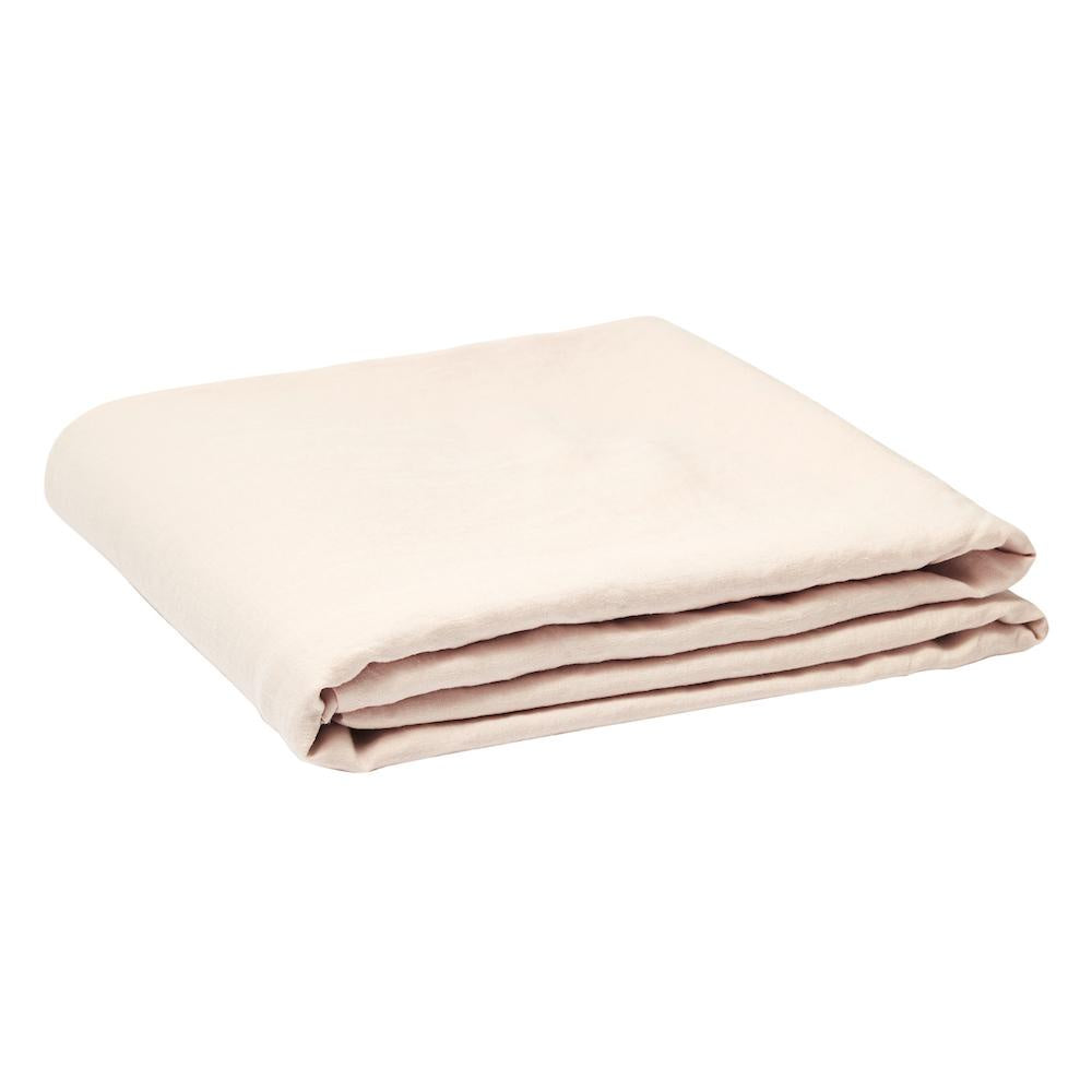 Linen Fitted Sheet Blush
