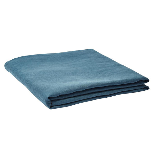 Linen Fitted Sheet Aegean