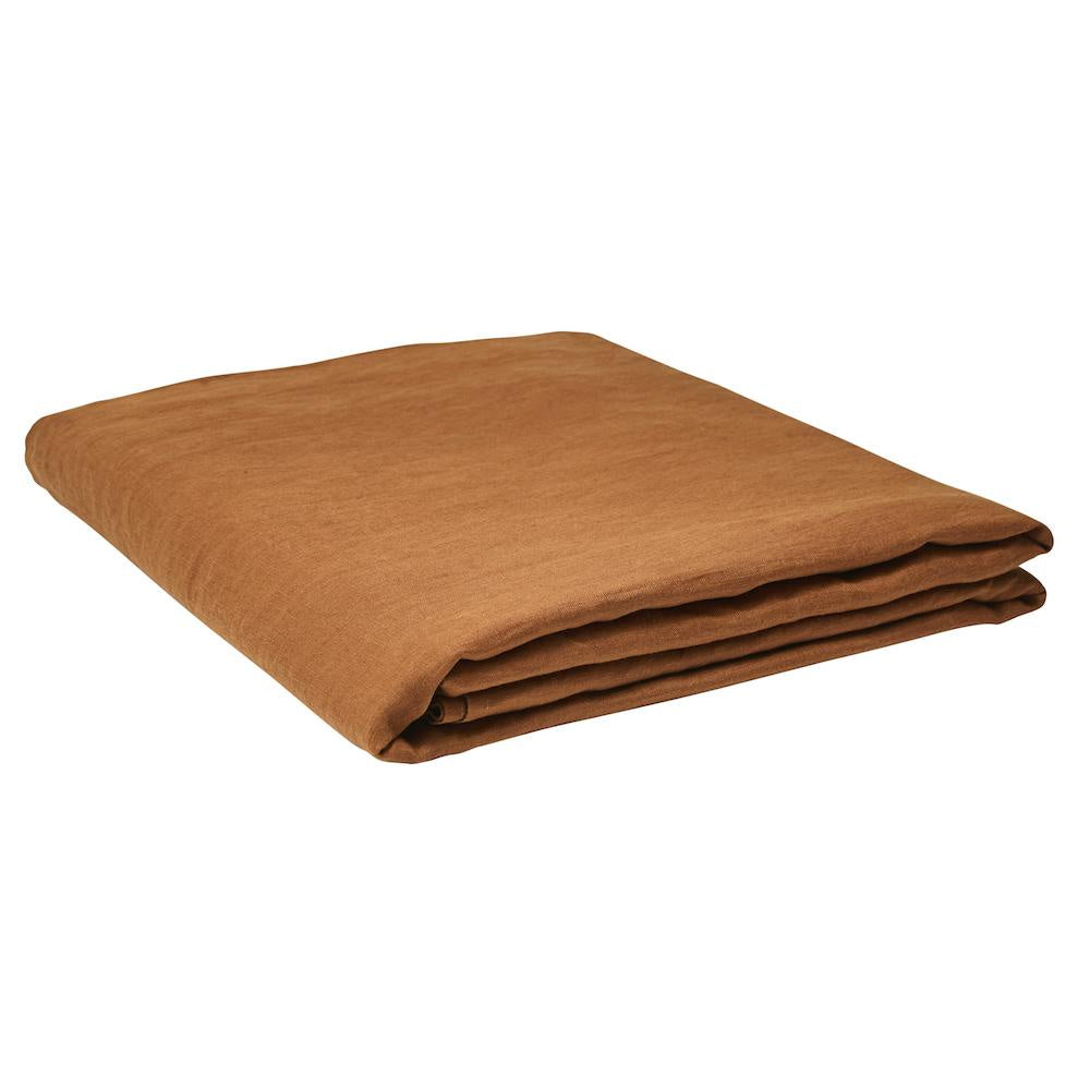 Linen Flat Sheet Tobacco