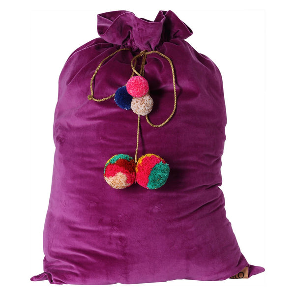 Grape Skin Purple Velvet Santa Sack