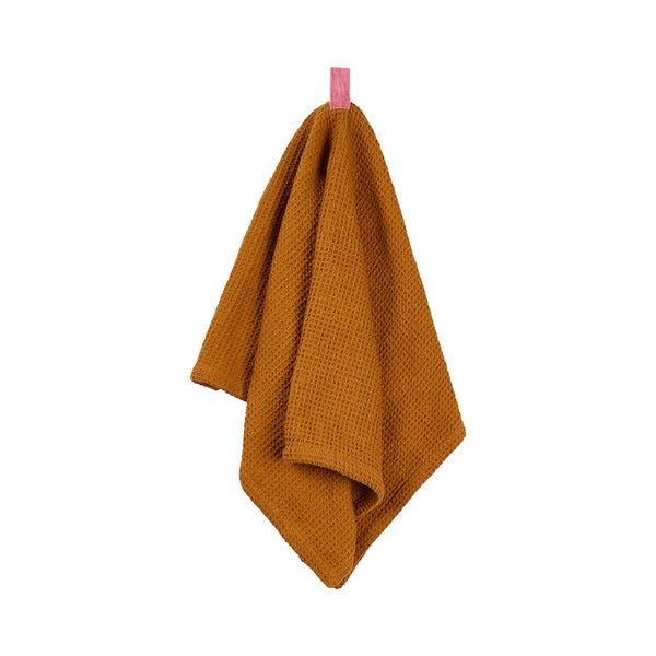 Ananda Ribbon Tea Towel - Ochre