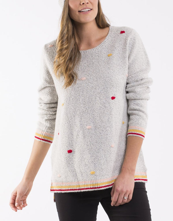 Dot To Dot Knit. Grey Marle