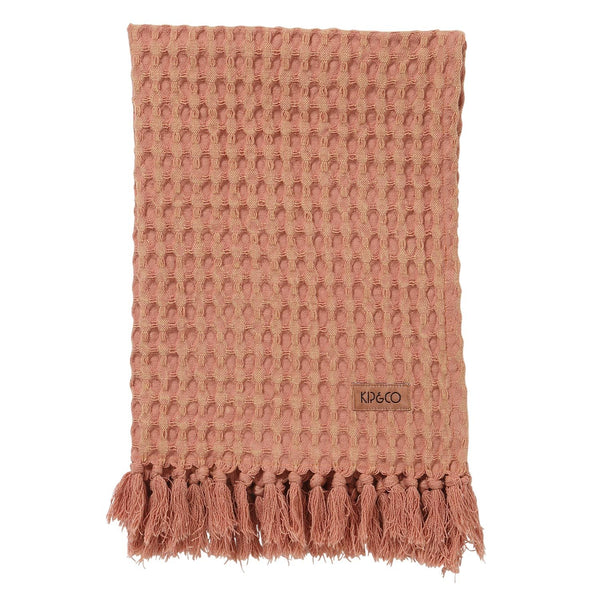 Muted Clay Waffle Hand Towel