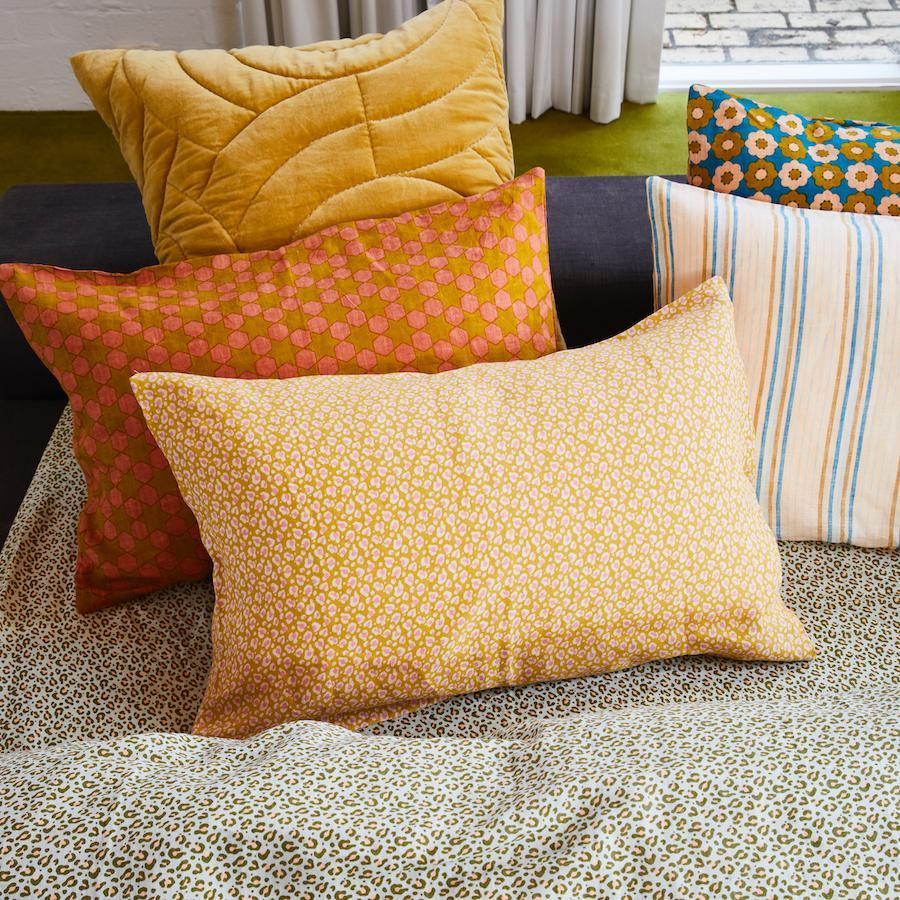 Ajo Linen  Pillowcase Set 2- Honey