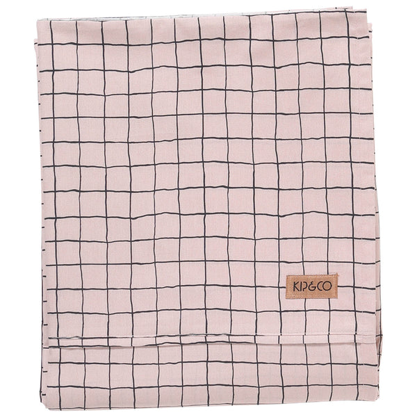 Check 1,2 Cotton Fitted Sheet- Queen