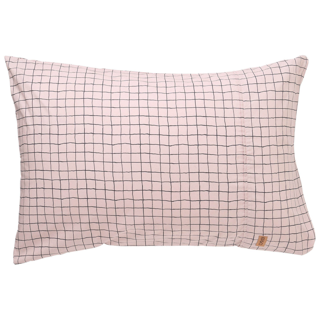 Check 1,2 Cotton Pillowcases- 2Pce