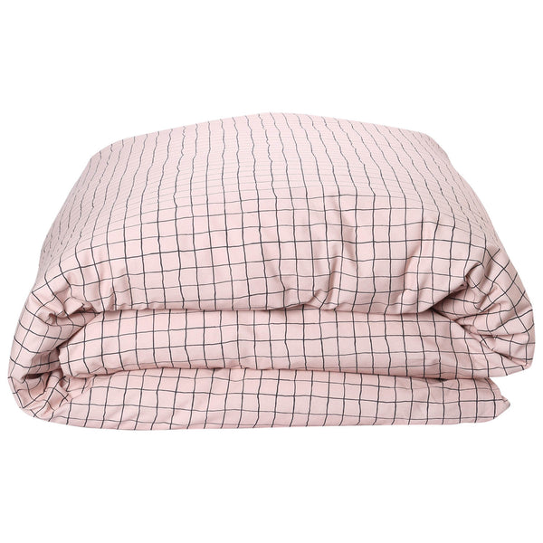 Check 1,2 Cotton Quilt Cover- Queen
