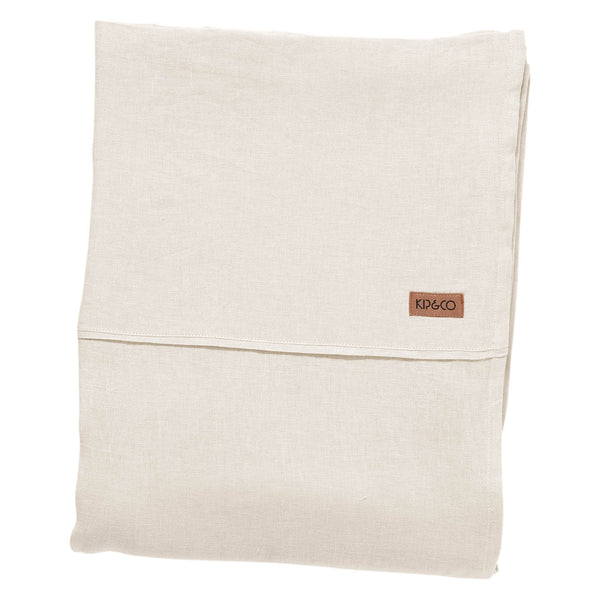 Coconut Linen Flat Sheet- Queen