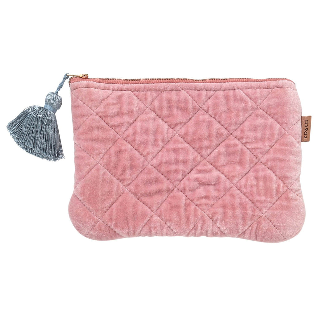 Dusty Pink Velvet Cosmetic Purse