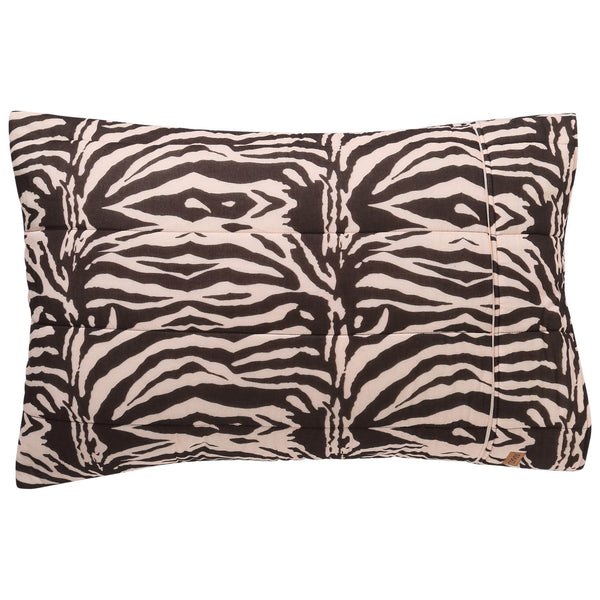 Zebra Crossing Quilted Pillowcase Set- 2Pce