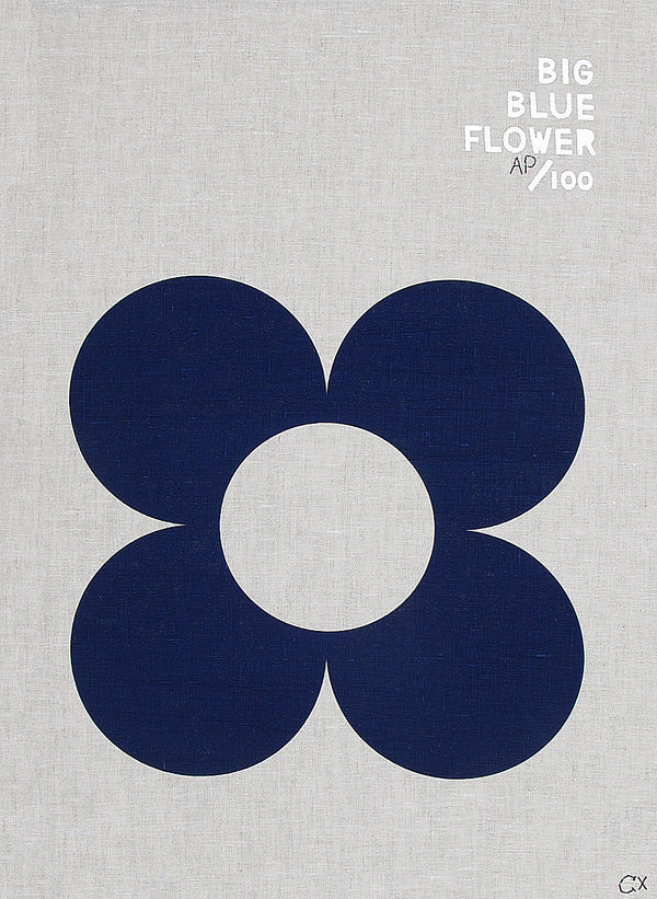 Big Blue Flower Teatowel