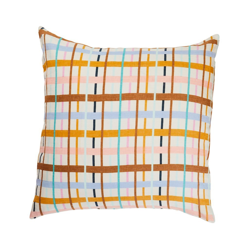 Cady Check Linen Euro Pillowacase Set
