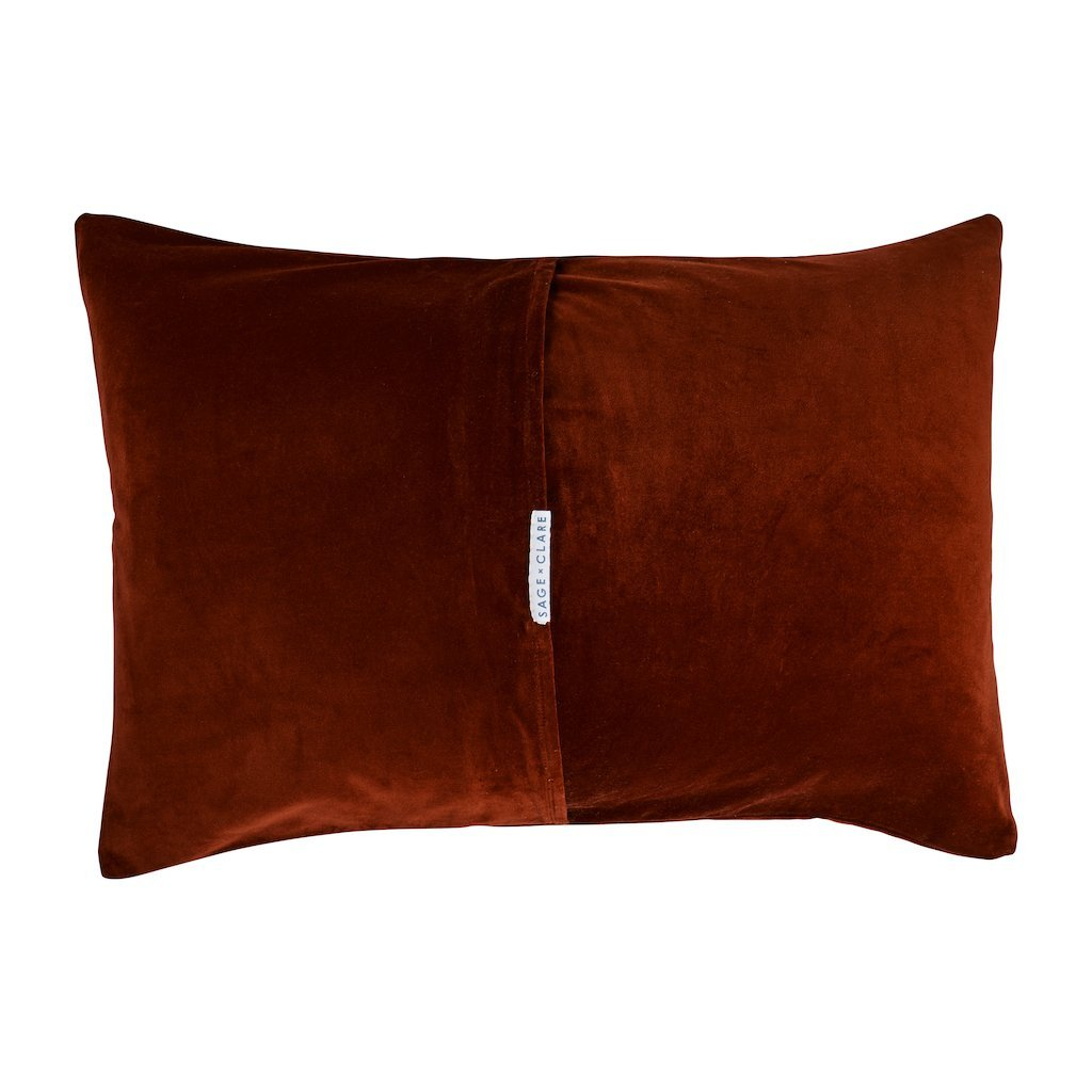 Canyon Velvet Pillowcase Russett