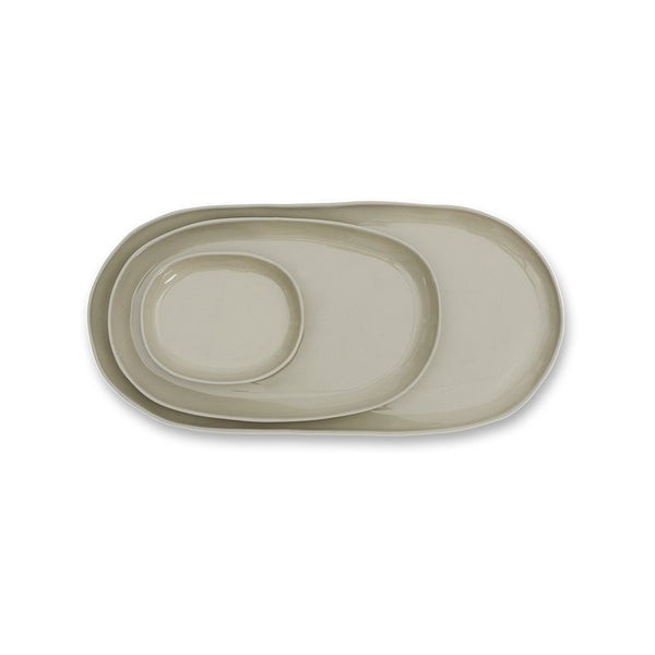 Cloud Oval Plate Dove Grey (M)