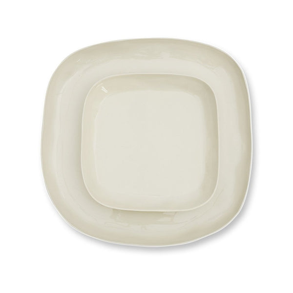 Cloud Square Plate Chalk White- Large