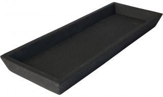 Concrete Square Tray - Black