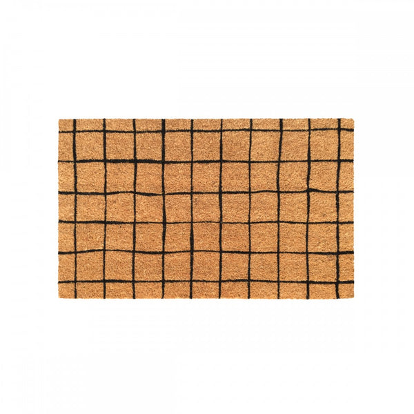 Doormat Black Grid