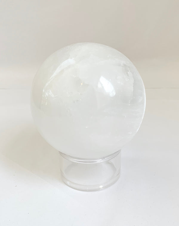 Selenite Sphere. Stone of Peace and Nuture