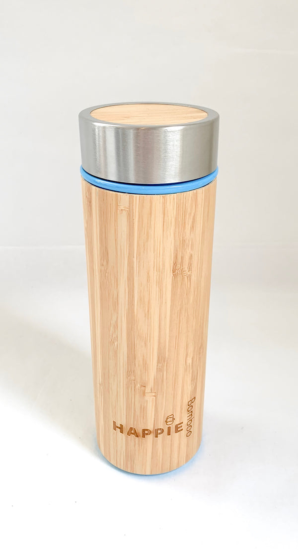Bamboo Drink Bottle/ Tea Tumbler - Blue
