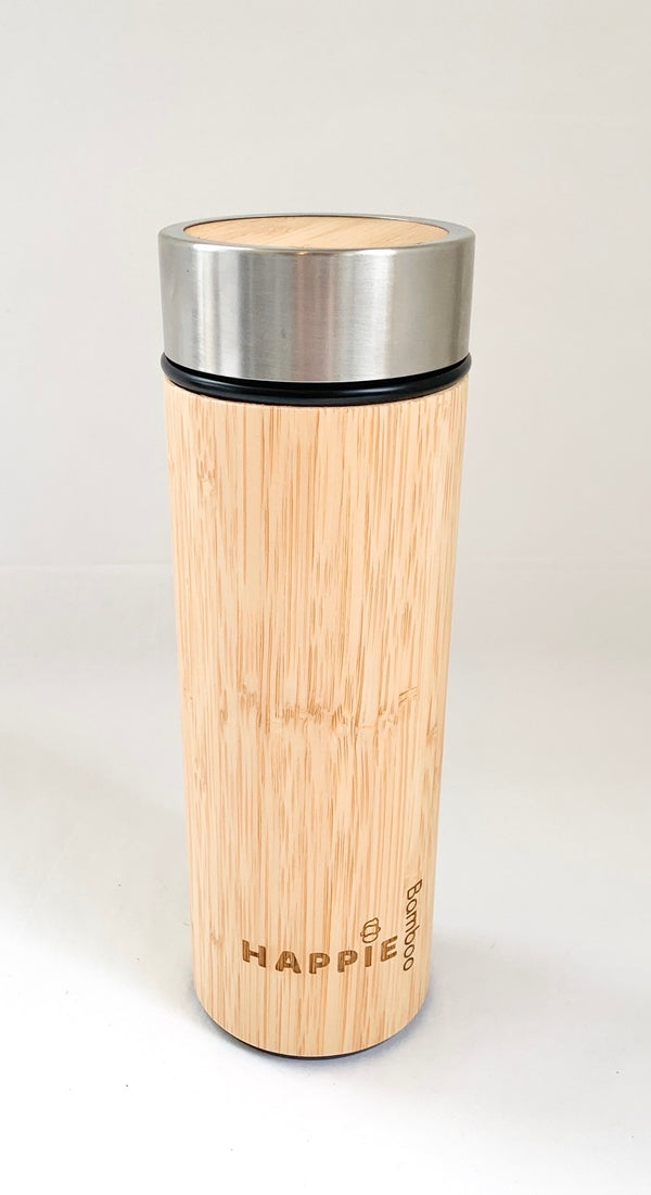 Bamboo Drink Bottle/ Tea Tumbler - Black