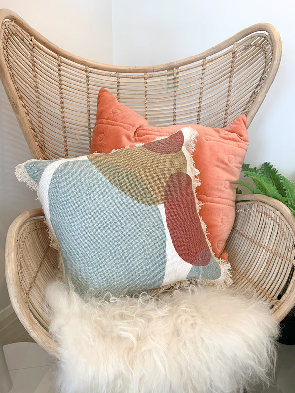 Chameleon Cushion- Blue