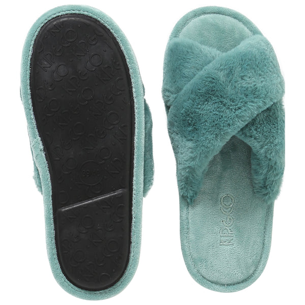 Green Womens Slippers
