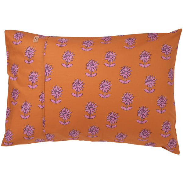 Bloom Rust Cotton Pillowcases 1pce