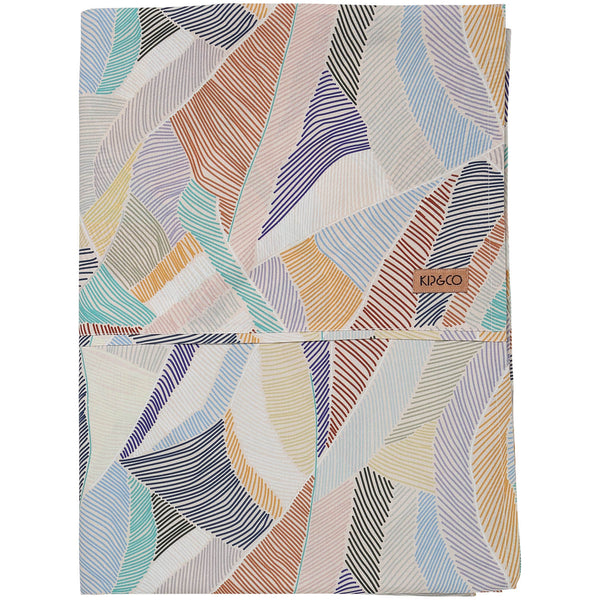 Boardwalk Sand Cotton Fitted Sheet- Queen