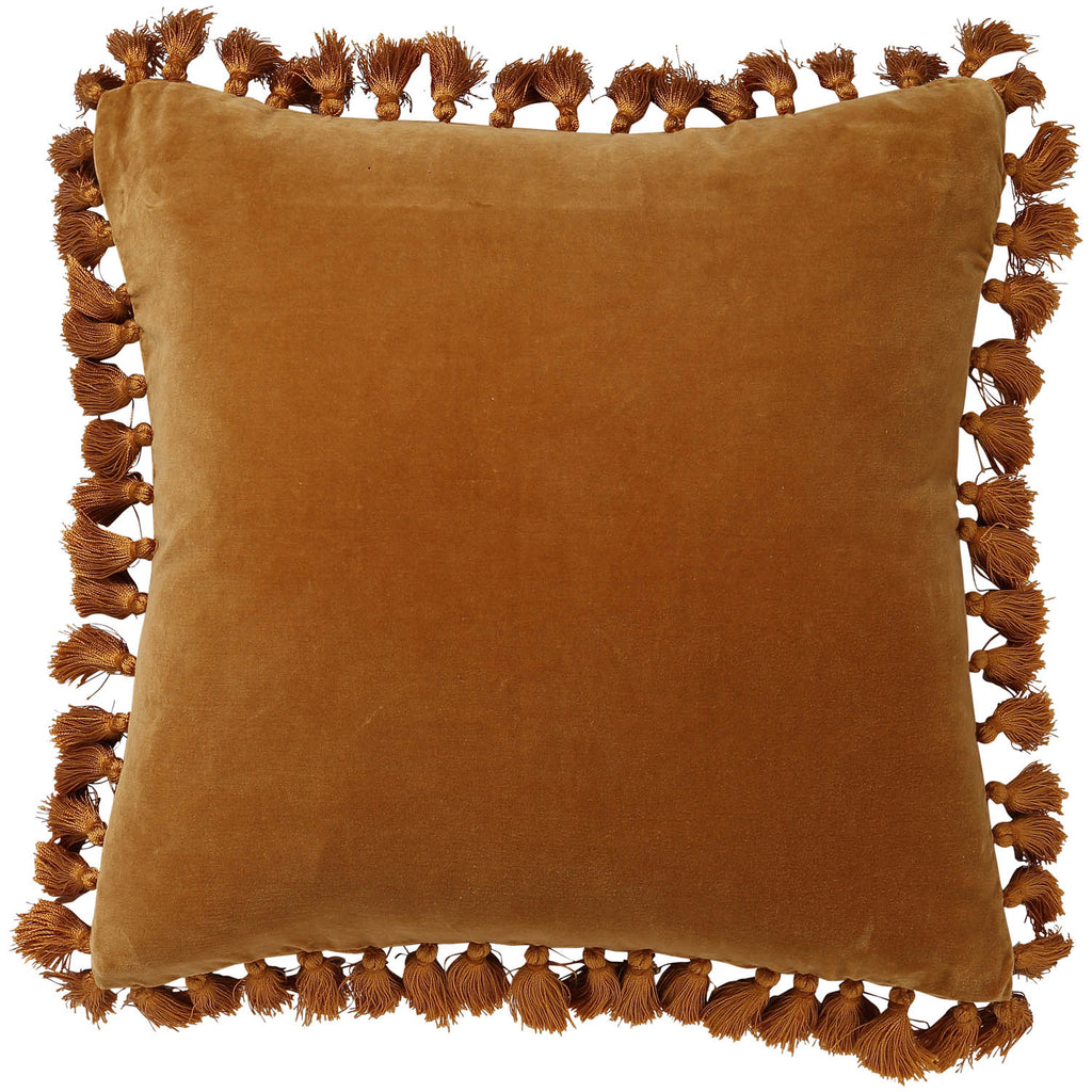 Golden Days Velvet Tassel Cushion