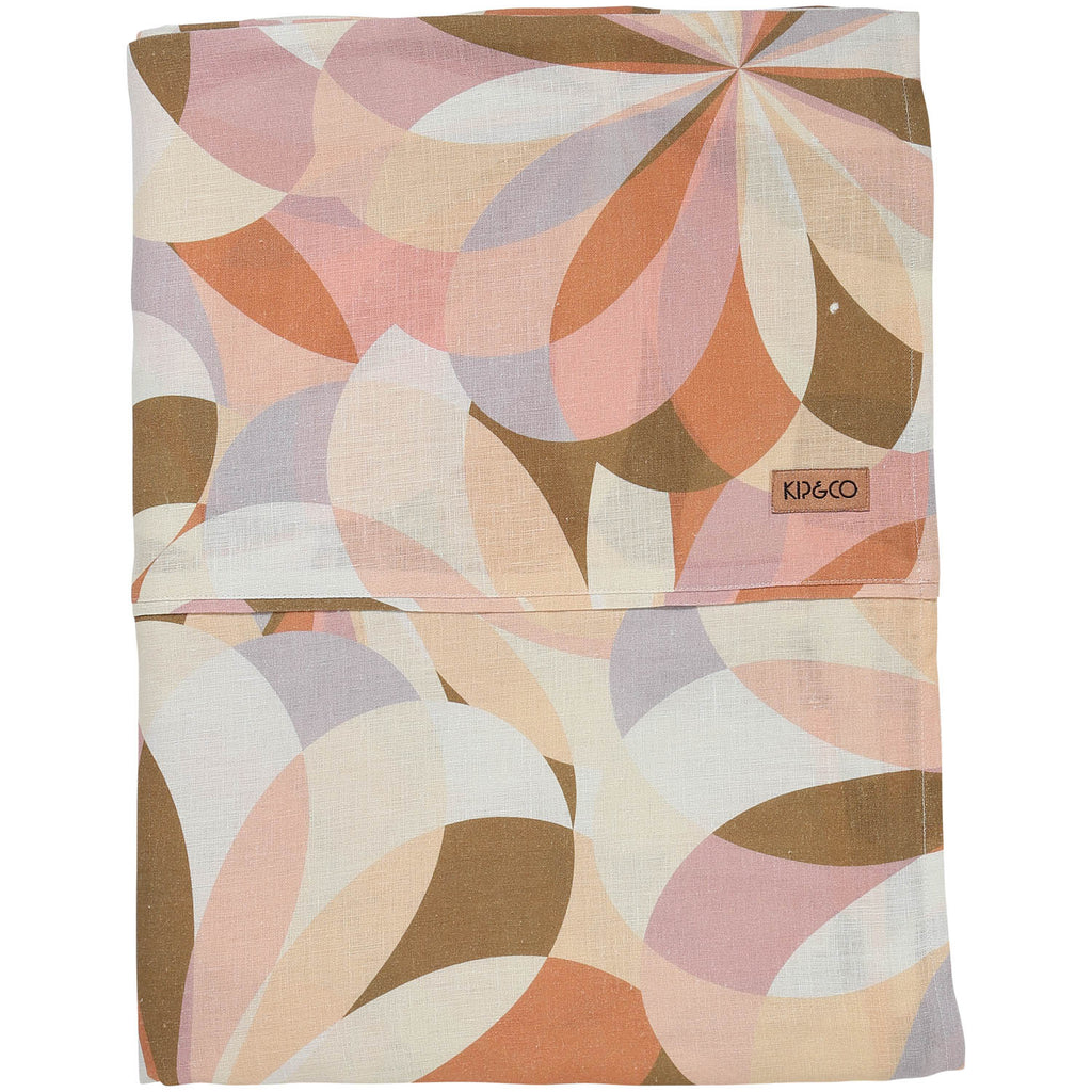 Kaleidoscope Linen Fitted Sheet- Queen