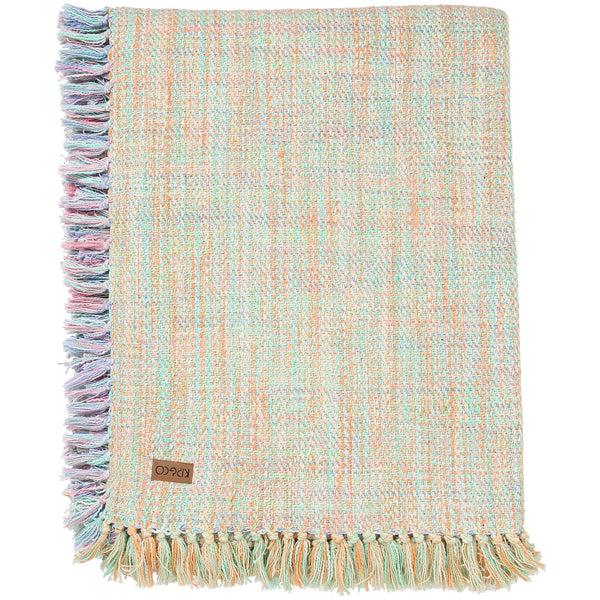 Multicoloured Melange Fringe Throw