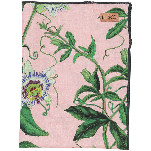 Passion Pink Linen Tea Towel