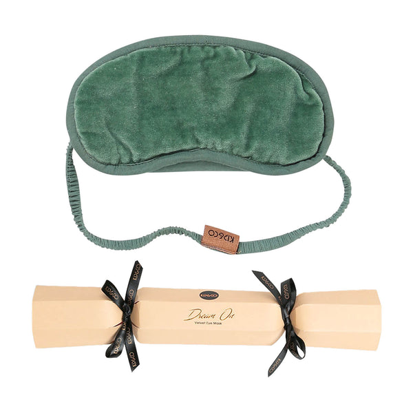 Succulent Green Velvet Eye Mask Bon Bon