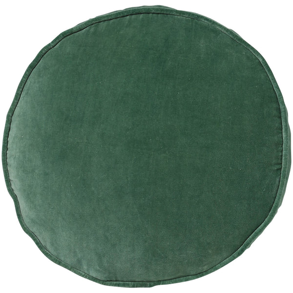 Succulent Green Velvet Pea Cushion