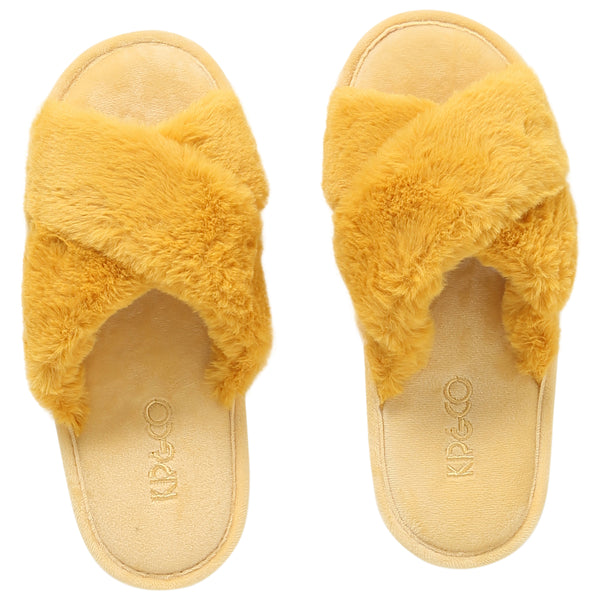 Yellow Womens Slippers
