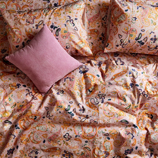 Paisley Cotton Pillowcases- 2Pce