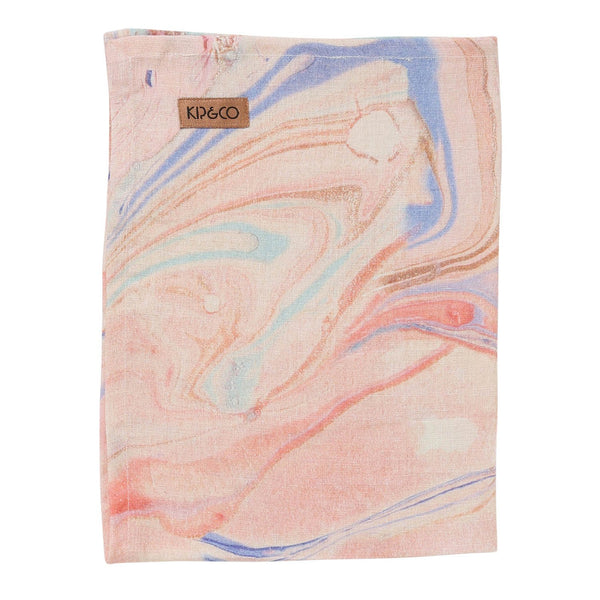 Marble Magic Linen Tea Towel