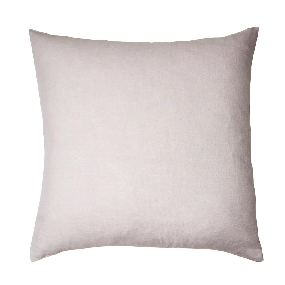 Linen Euro Pillowcase Set Lilac
