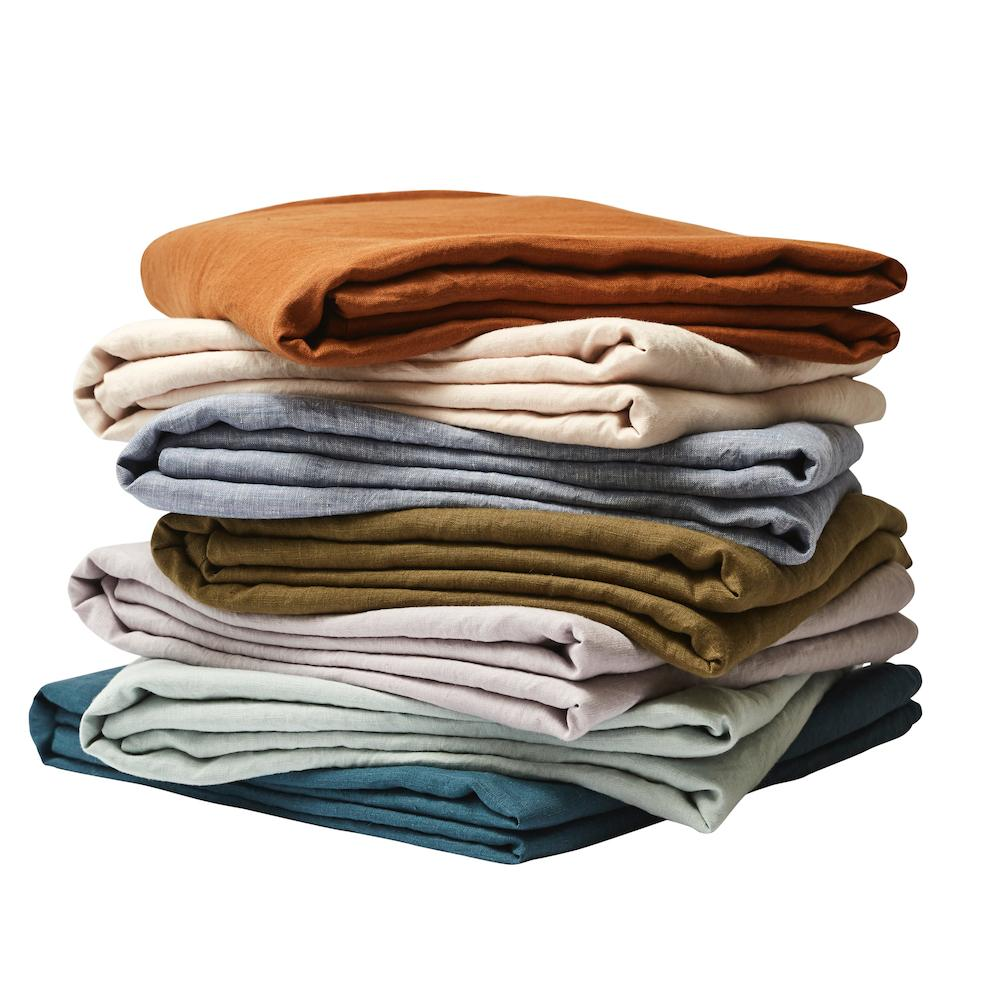 Linen Fitted Sheet Tobacco