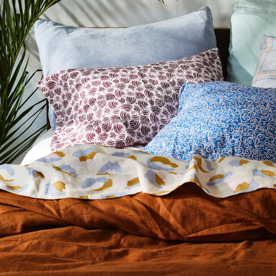 Linen Quilt Cover Tobacco