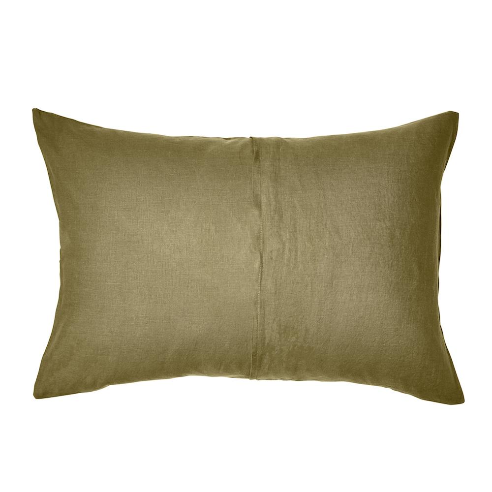 Linen Standard Pillowcase Set Moss