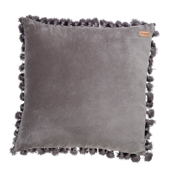 Storm Front Velvet Tassel Cushion Cover