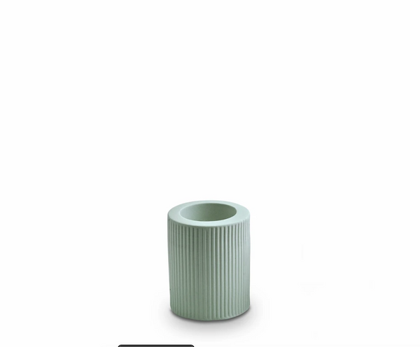 Ribbed Infinity Candle Holder Blue Med (RCHBM)