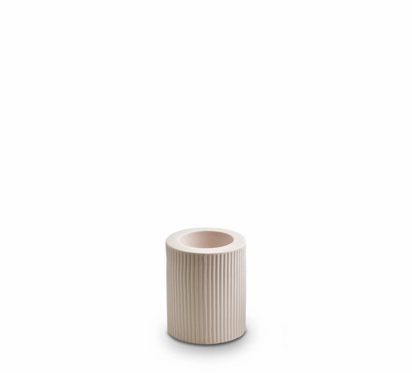 Ribbed Infinity Candle Holder Nude