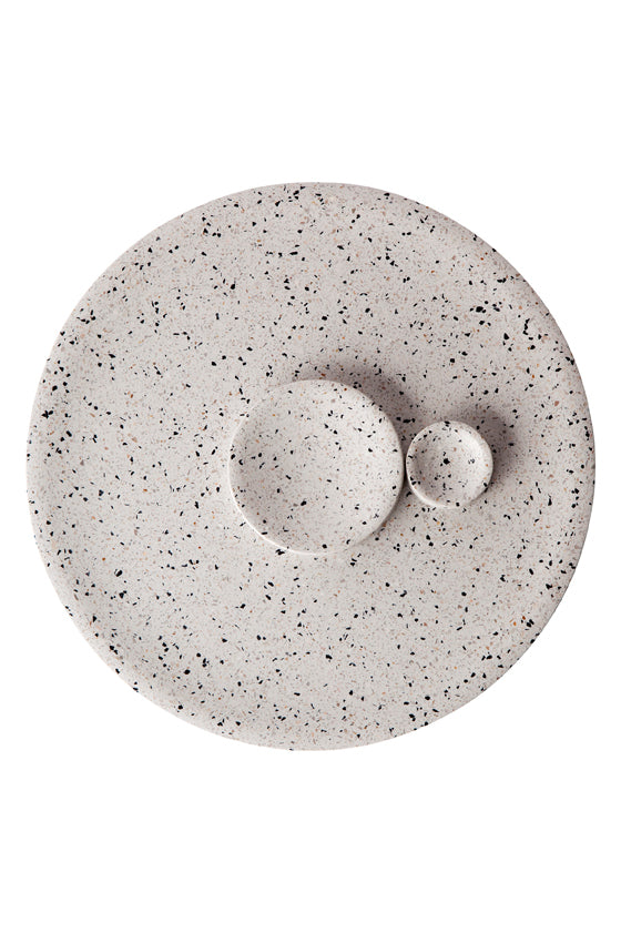 Terrazzo Dimple Tray - Medium Snow