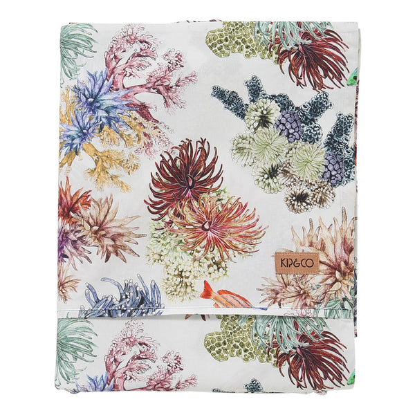 Great Barrier Reef Cotton Flat Sheet- King
